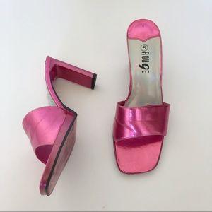Rouge Metallic Pink Heels